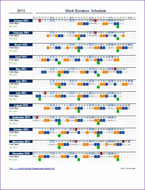 12 Scheduling Templates Excel - Excel Templates - Excel Excel On Call Rotation Calendar