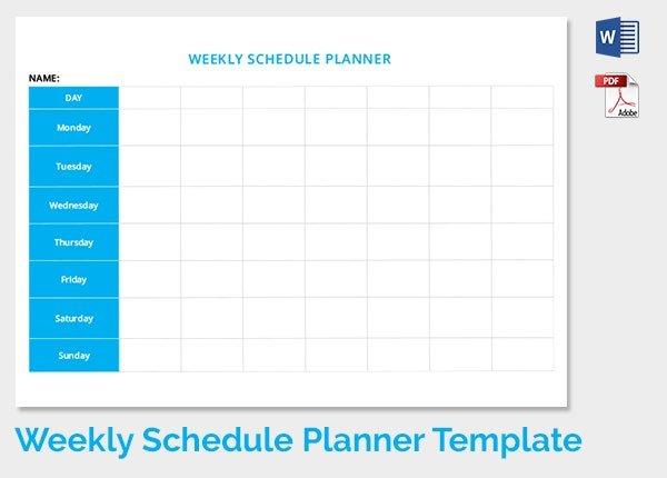 12+ Weekly Schedule Templates - Doc, Pdf | Free & Premium 8 Week Calendar Doc