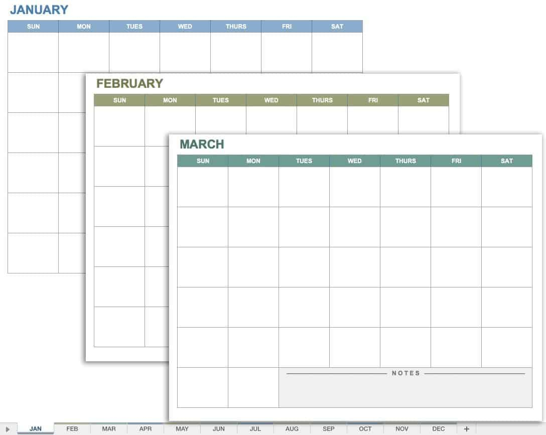 15 Free Monthly Calendar Templates | Smartsheet Hp Month Calendar Printable