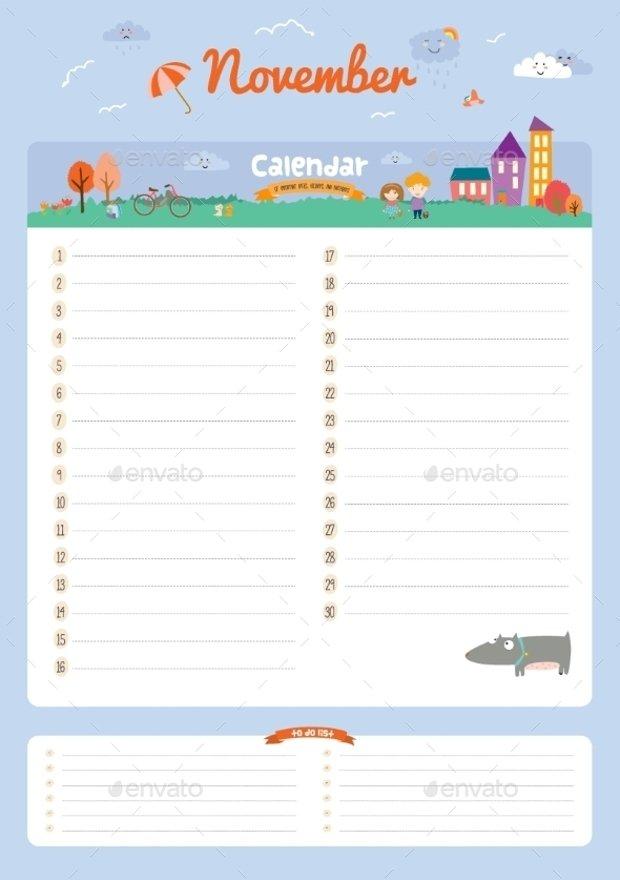 17+ Birthday Calendar Template - Word, Pdf, Psd, Eps, Ai Fillable Birthday Calendar Template