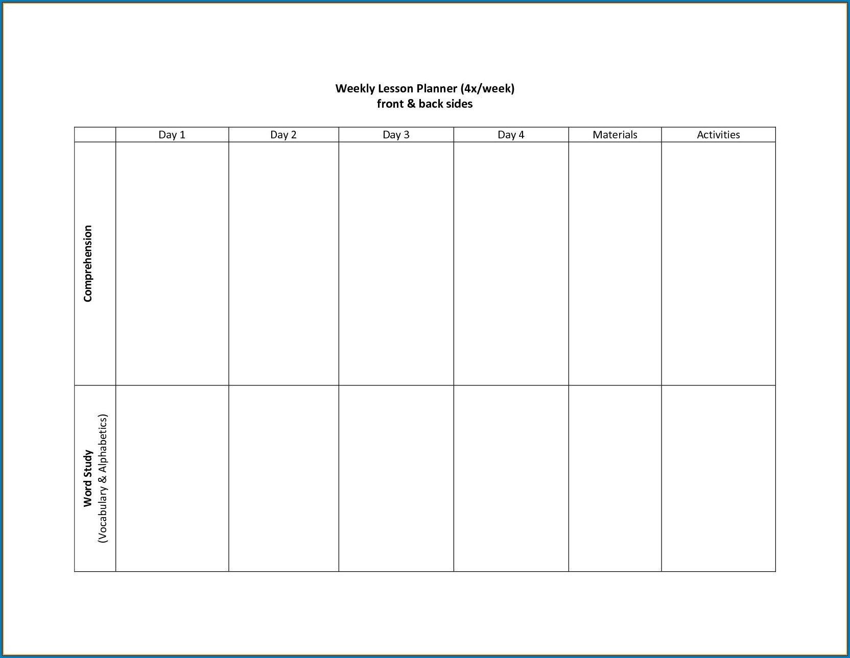 2 Week Schedule Template Printable | Calendar Template Two Week Calendar Template