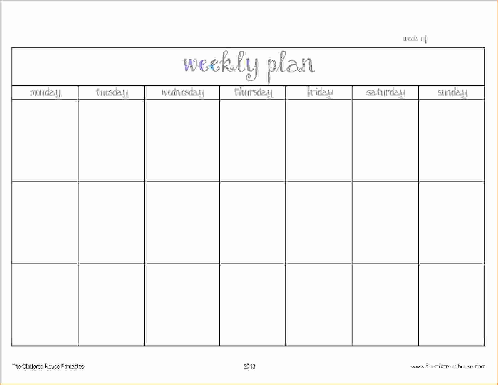 2 Week Schedule Template Printable | Example Calendar 2 Weeks Calendar Printable