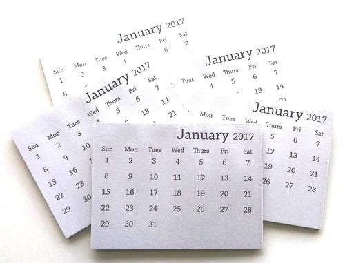 2017 Mini Tear-Off Calendar (Set Of 10) | Mini Calendars Printable Rip Off Day Calendar