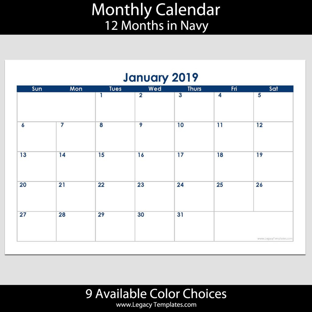 2019 12-Month Landscape Calendar – 5.5 X 8.5 | Legacy Calendar 8 X 11 Downloadable