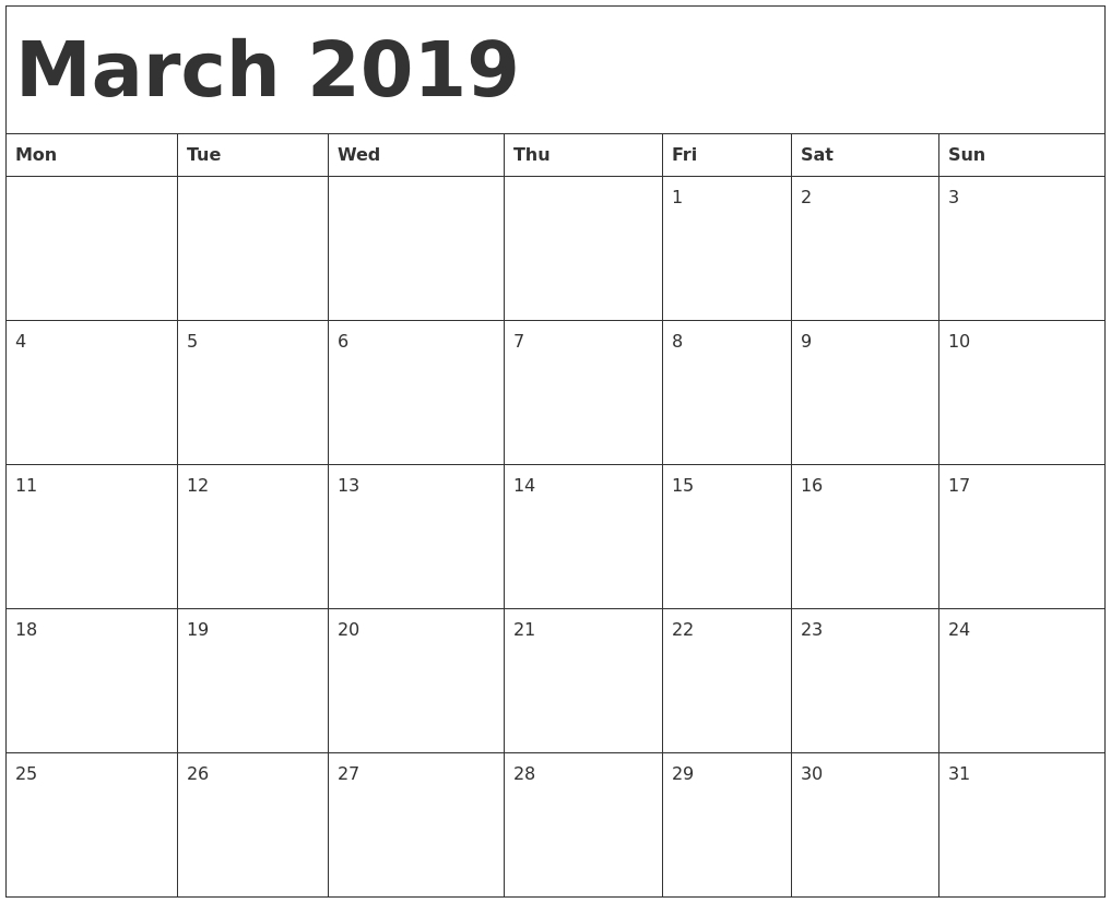 2019 Blank Calendar Print-Outs Fill In With Holidays Free Fill In Weekly Schedule
