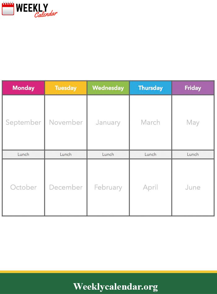 2019 Blank Weekly Calendar Printable In Pdf, Word & Excel Excel Week By Week Calendar
