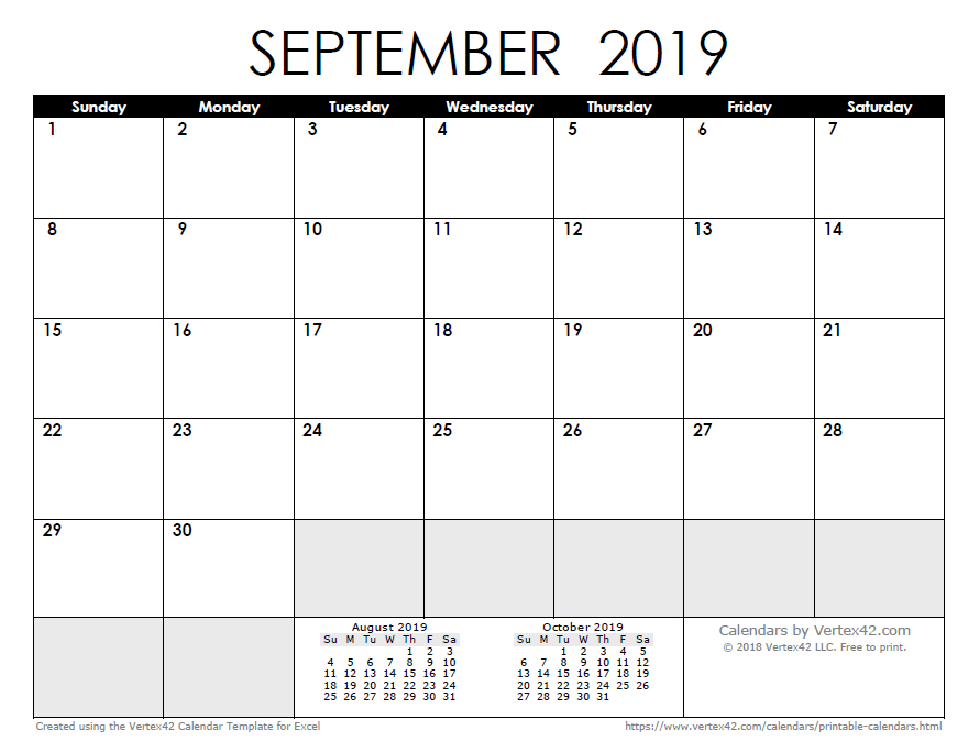 2019 Calendar Templates And Images Understated Calendar In Publisher