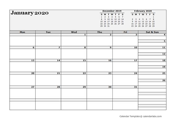 2020 Blank Three Month Calendar - Free Printable Templates 3 Month Calendar Printable Free