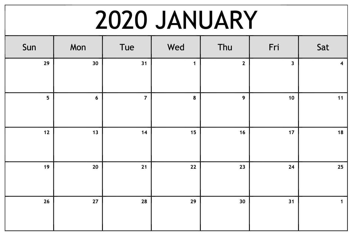 2020 Calendar You Can Edit | Calendar Printables Free Calendars You Can Modify