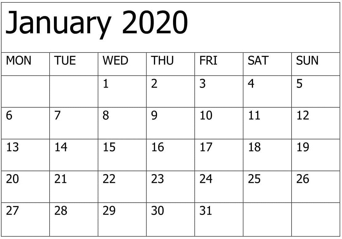 2020 Calendar You Can Edit | Calendar Printables Free Printable Calendars That You Can Edit