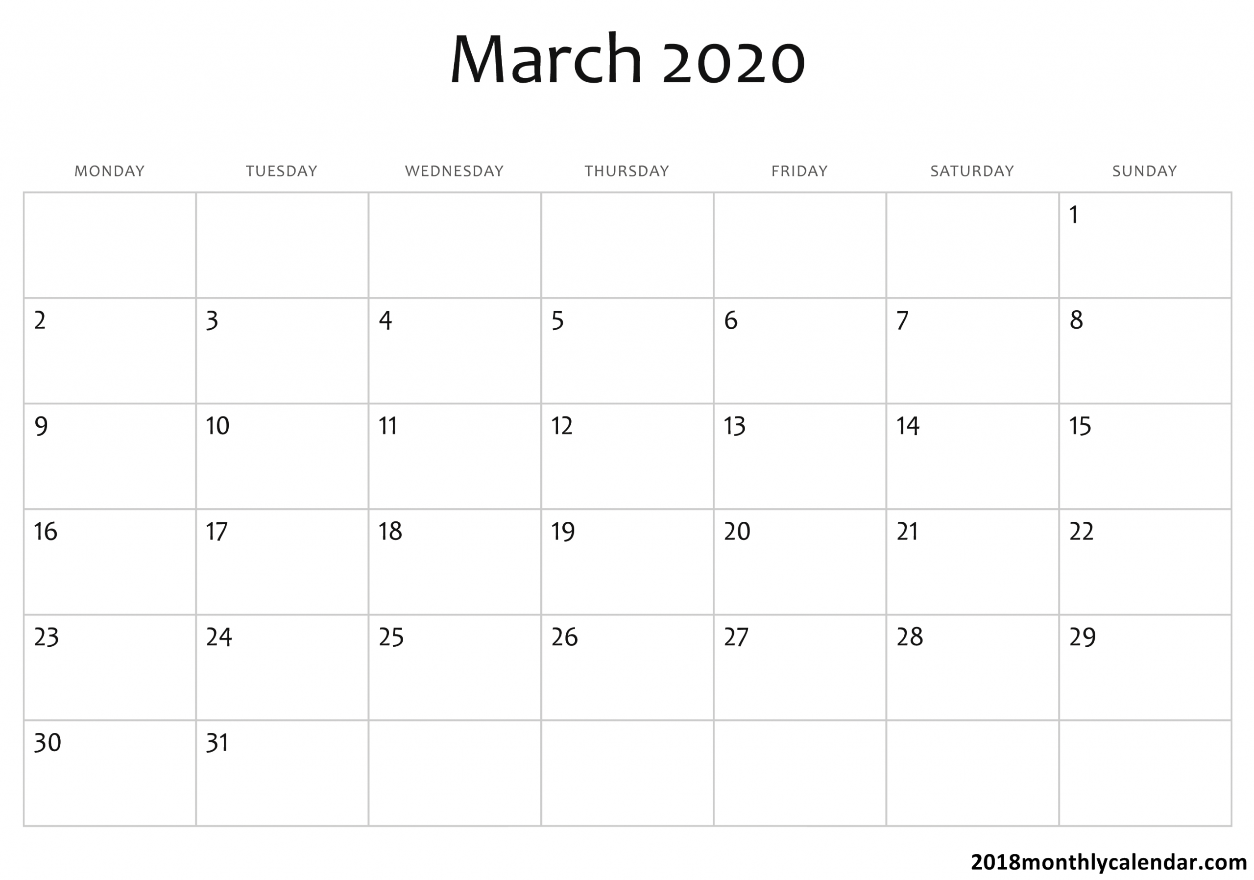 2020 Calendar You Can Edit | Calendar Template Printable Monthly Calendars You Can Edit