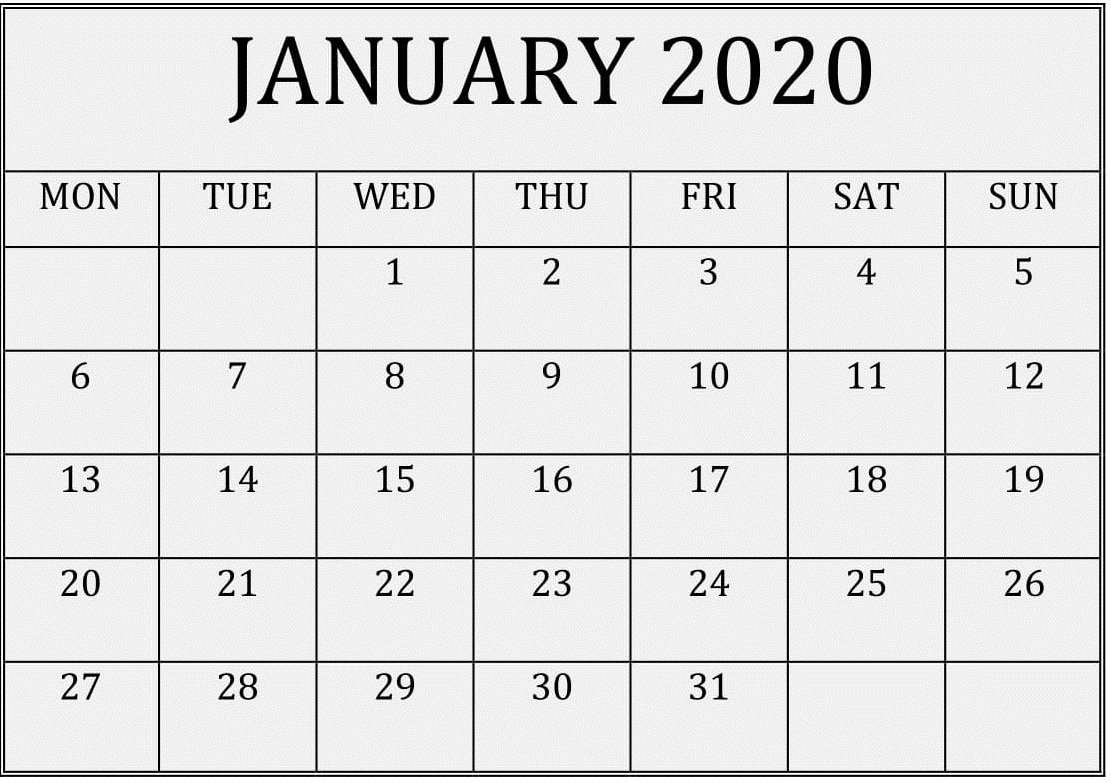 2020 Calendar You Can Edit   Month Calendar Printable Blank Calendar That I Can Edit