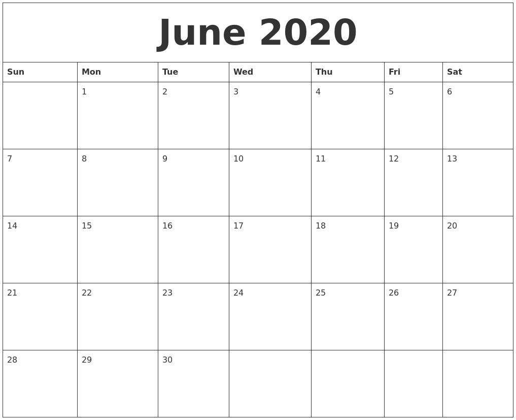 2020 Calendars That You Can Edit | Calendar Template Monthly Calendars You Can Edit