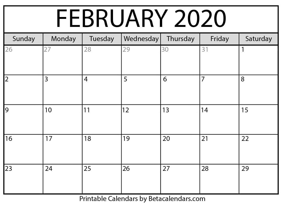 2020 Calender I Can Edit   Calendar Template Printable Blank Calendar That I Can Edit