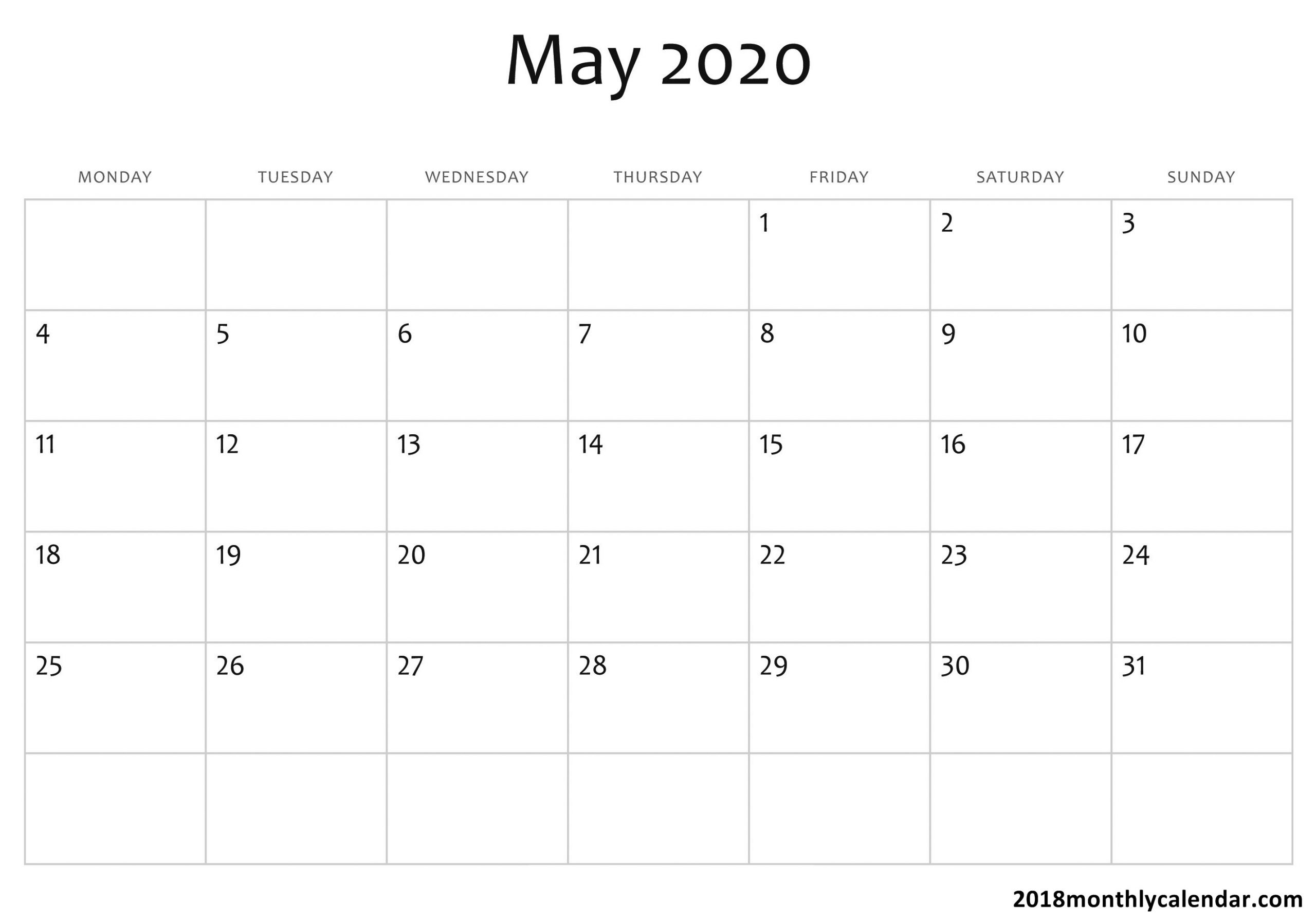 2020 Calender I Can Edit | Calendar Template Printable Calanda Templete That I Can Edit
