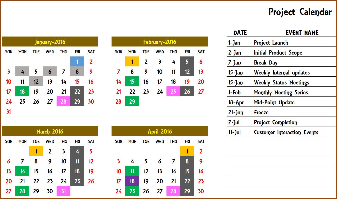 2020 Excel Calendar Template - Excel Calendar 2020 Or Any Excel 5 Year Calendar
