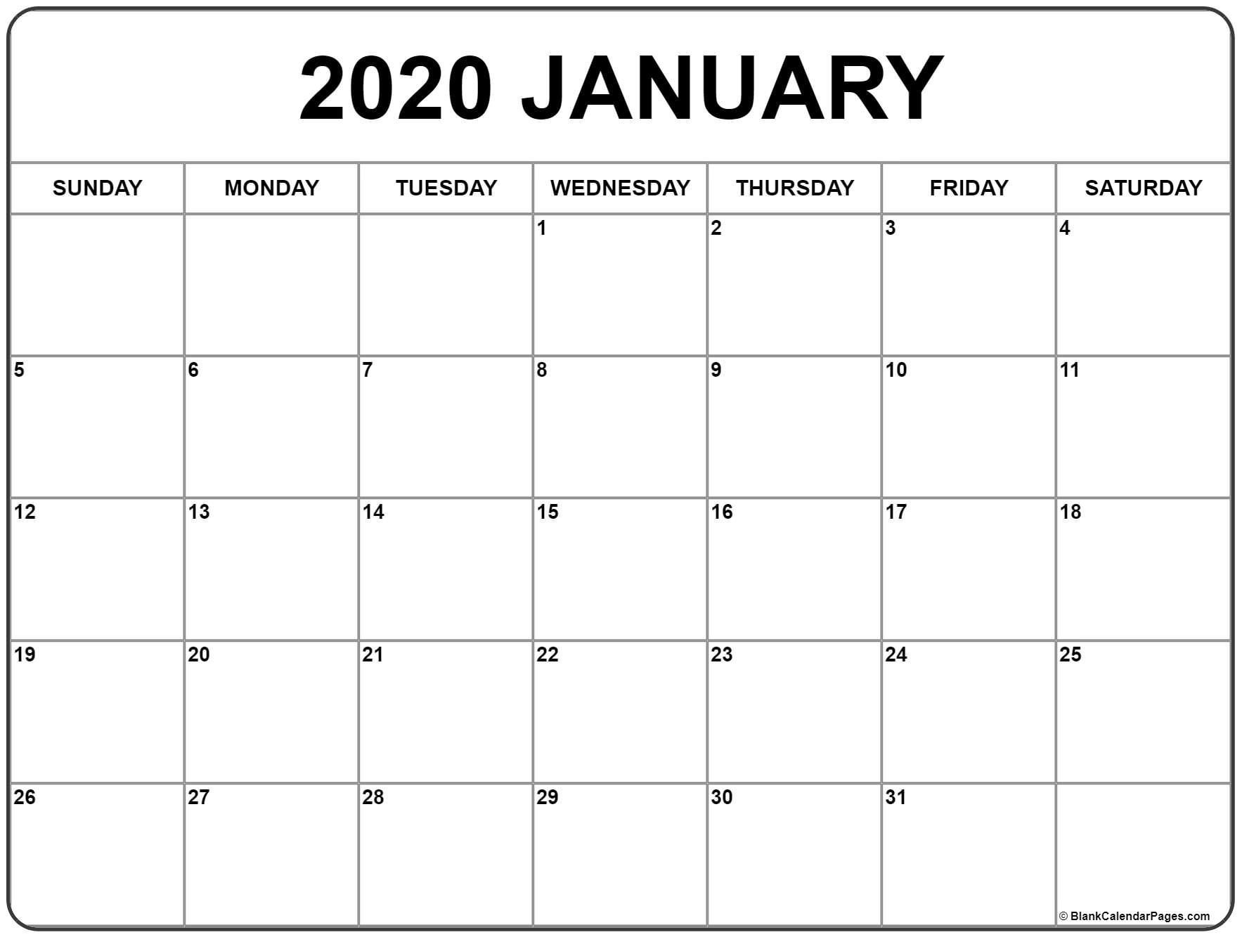2020 Free Monthly Printable Calendar Monday Thru Friday Free Printable Monthly Calendar Monday Thru Friday