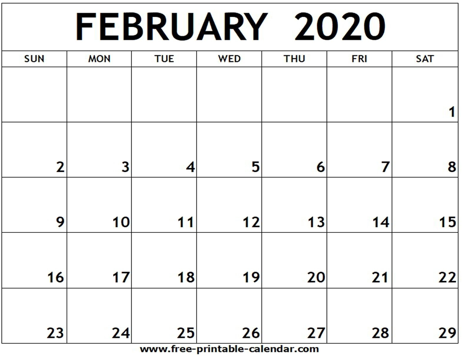 2020 Free Printable Calendars Without Downloading Free Printable Calendar Without Downloading