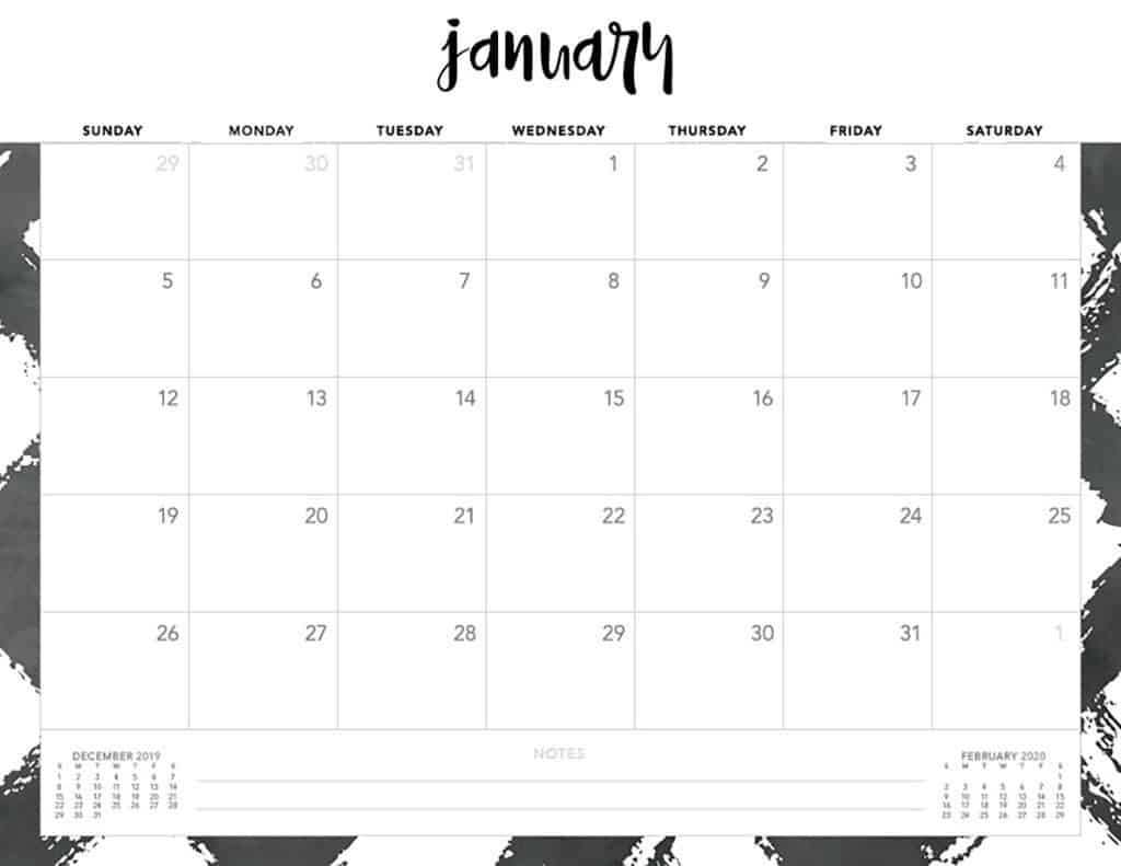 2020 Free Printable Monthly Calendars Without Downloading Free Printable Monthly Calendar Without Download