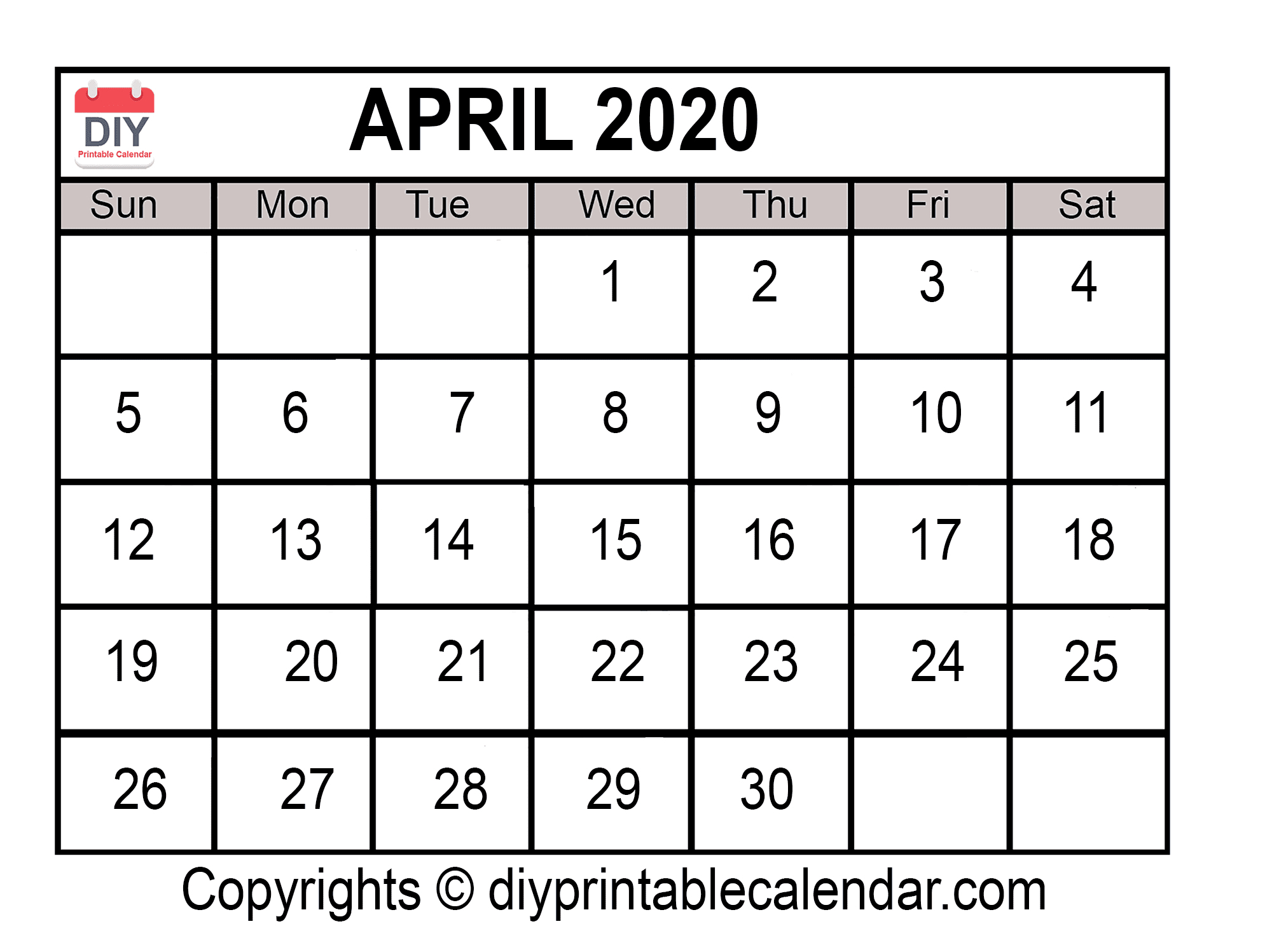 2020 Free Printable Monthly Calendars You Can Edit With Blank Calendar That I Can Edit