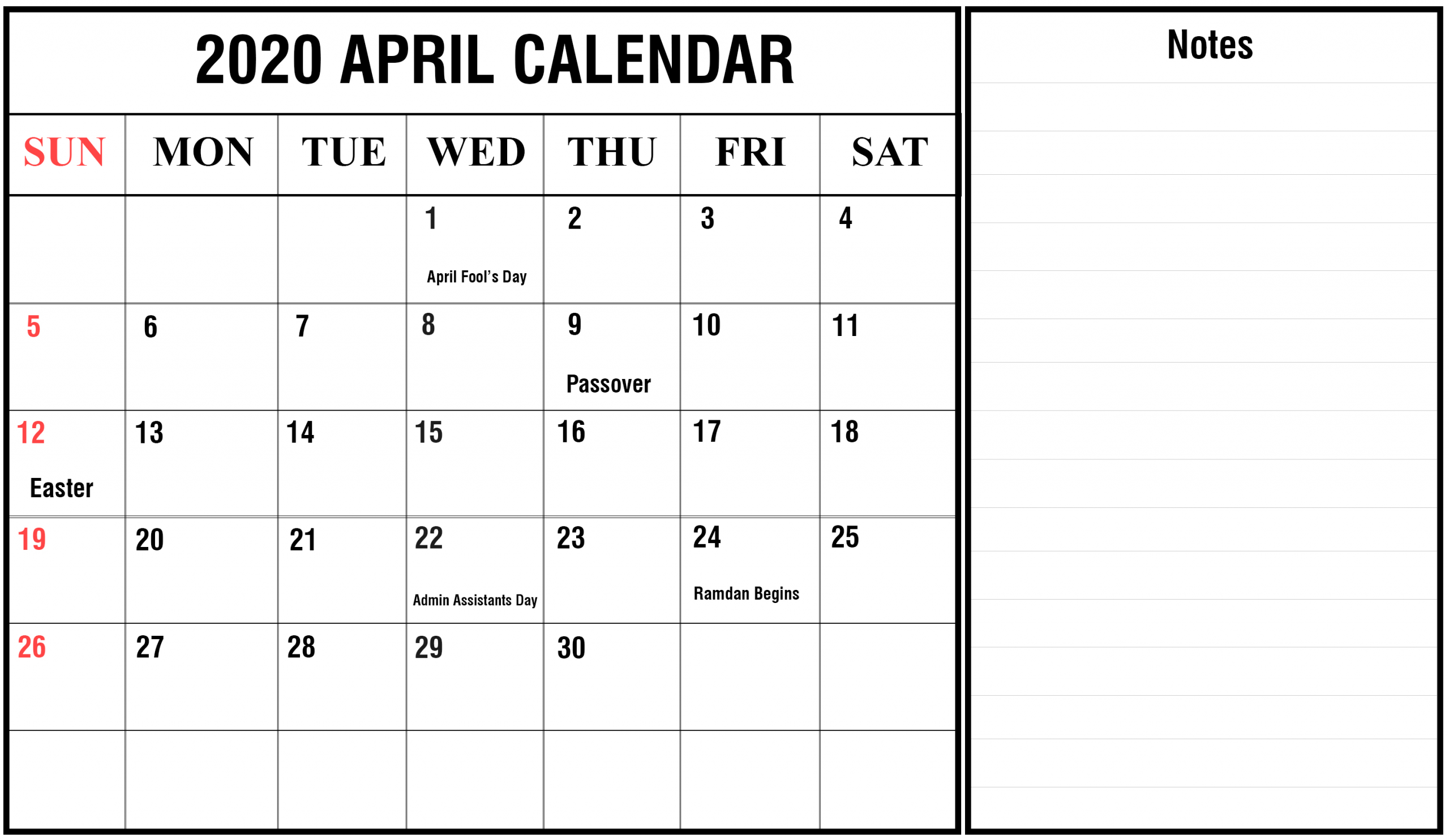2020 Free Printable Monthly Calendars You Can Edit With Calendars You Can Edit