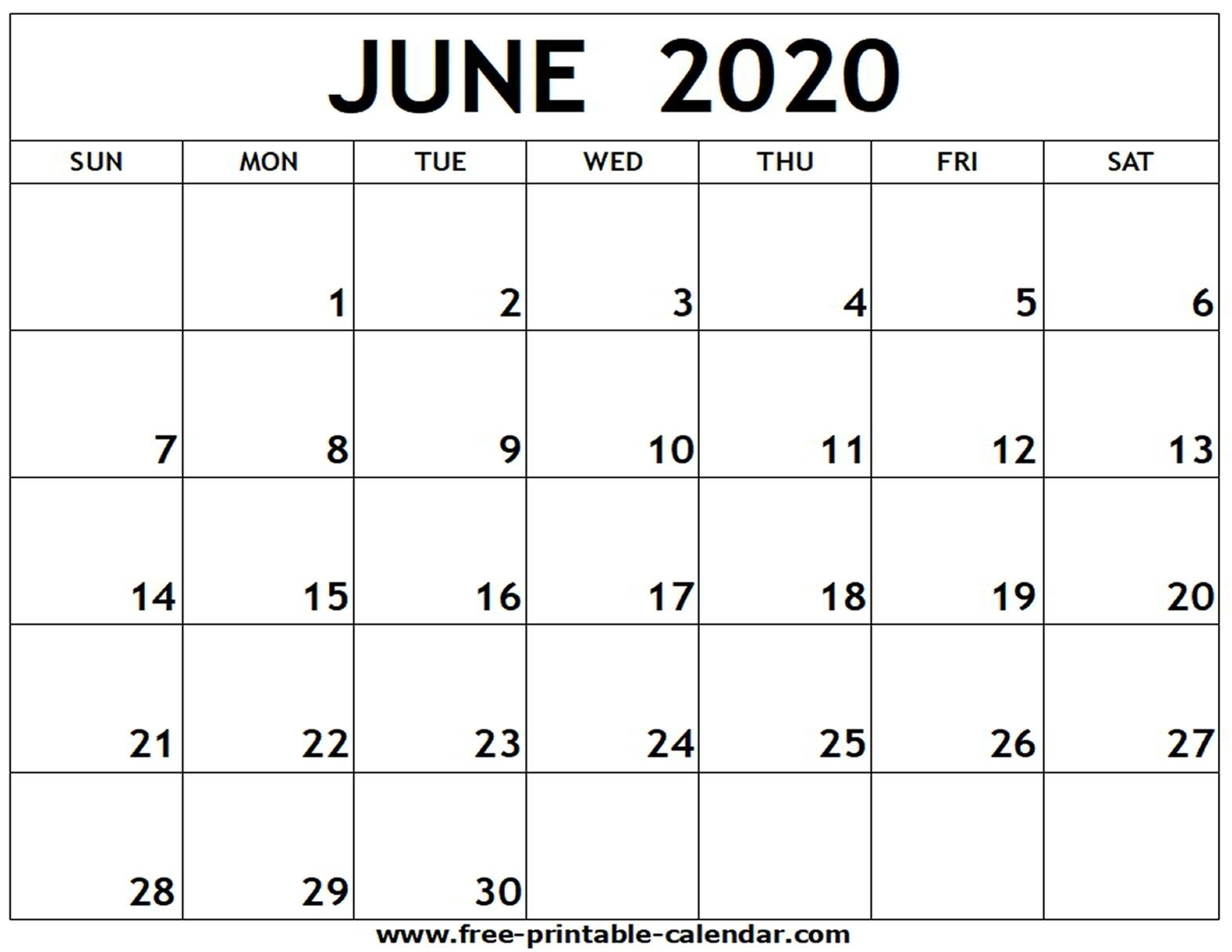 2020 Printable Fill In Calendar - Calendar Inspiration Design How To Fill June Calendar