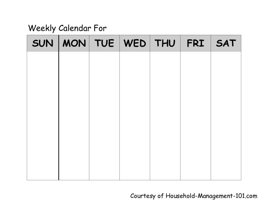 2020 Weekly Planner Template - Fillable, Printable Pdf One Week Calendar Template