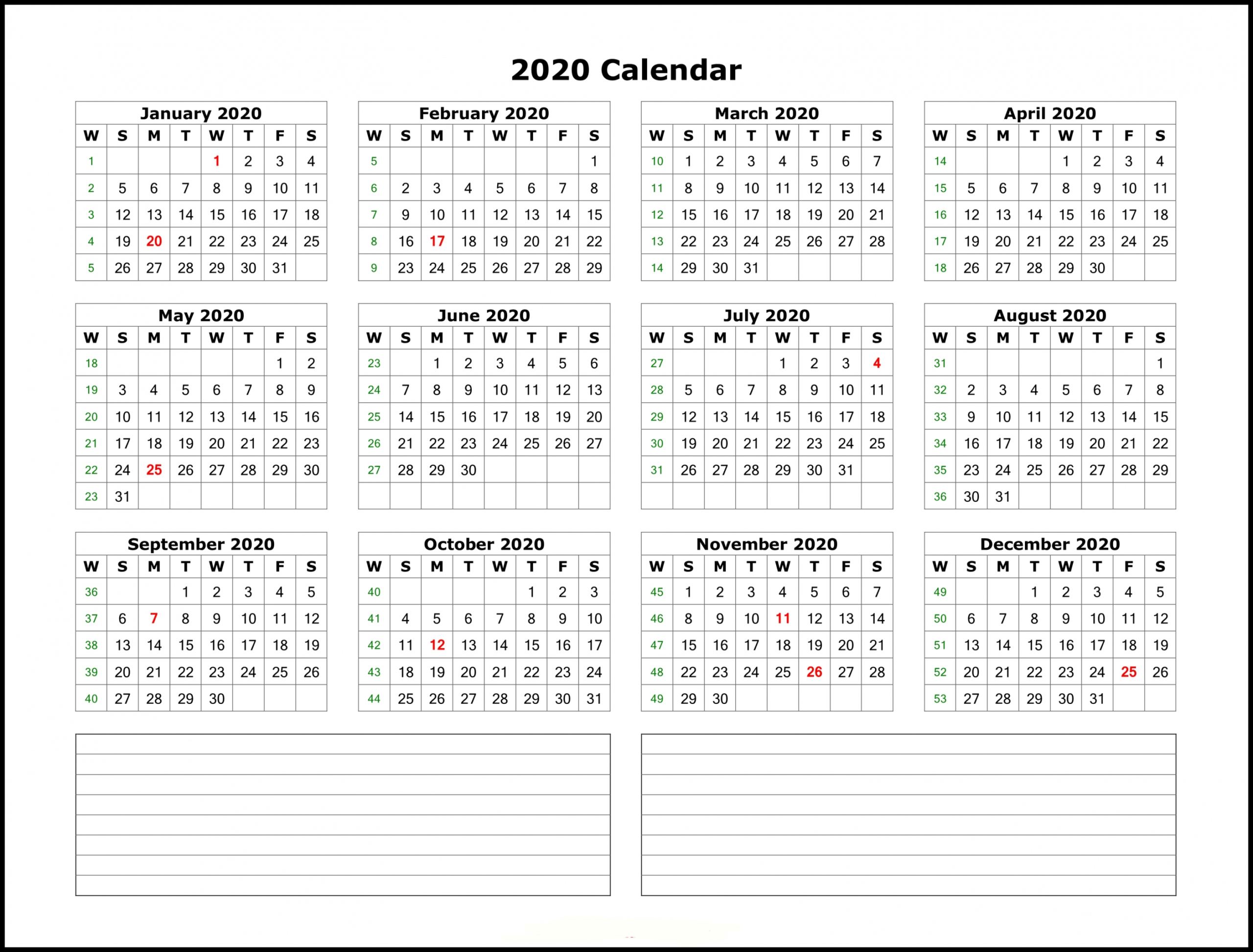2020 Year Calendar Printable - 2020(이미지 포함) | 달력, 배경화면, 패턴 Free Printable 5 Year Calendar