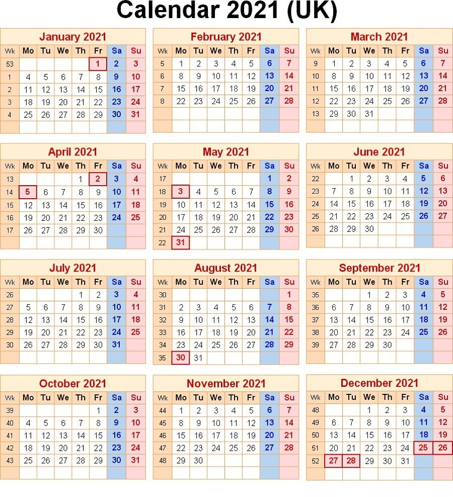 2021 Calendar With Week Numbers Free 365 Days | Free Calendar Numbered Days 365