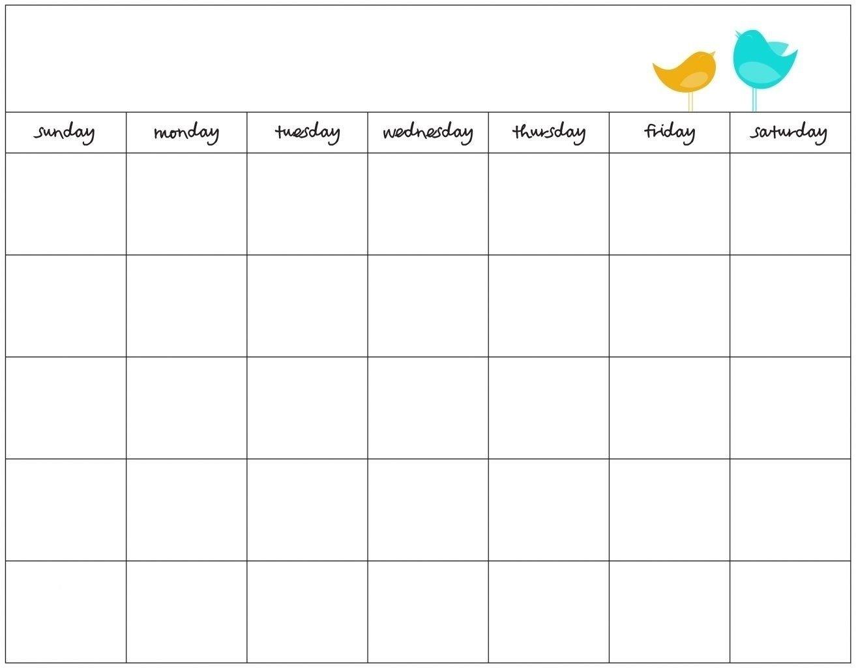 30 Day Calander   Calendar For Planning 30 Day Calendar Template