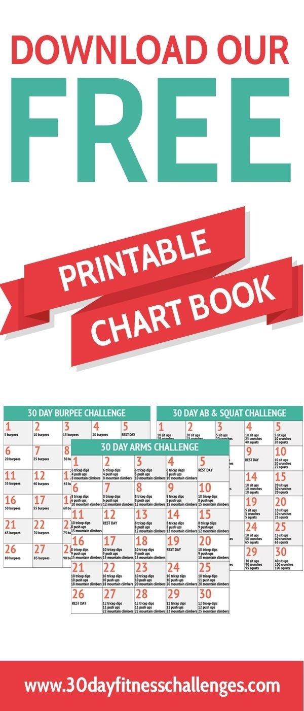 30 Day Fitness Challenges Printable Charts – Template Printable Plank Challenge Calendar