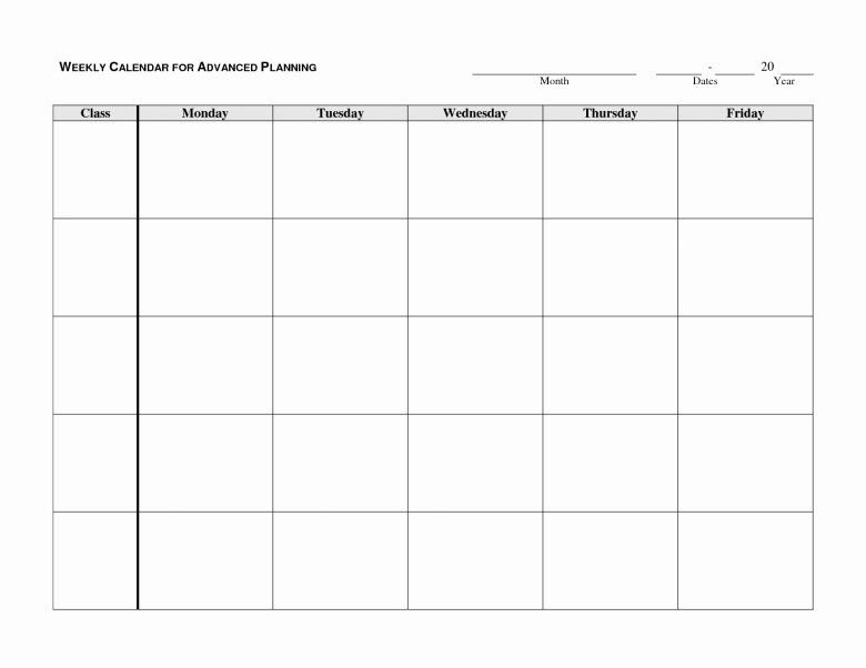 30 Monday To Friday Schedule Template In 2020 | Blank Monday Through Friday Calendar Word