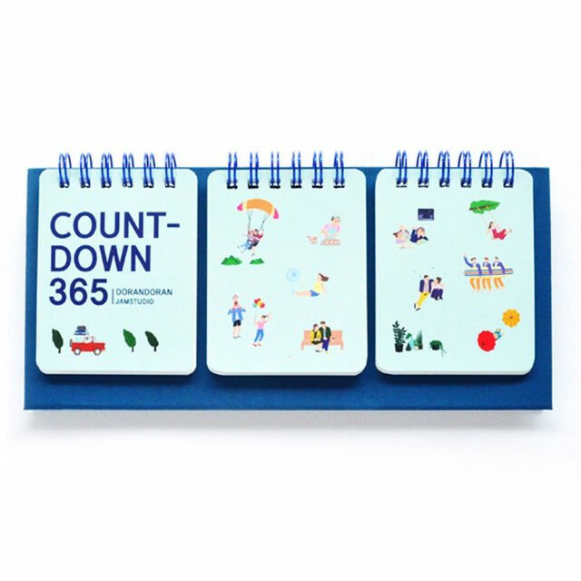 365 Wirebound Lovely Perpetual Calendar D-Day Count Down 365 Day Calendar Counter