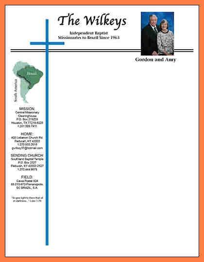4+ Church Letterhead Templates | Company Letterhead Free Printable Of Churches