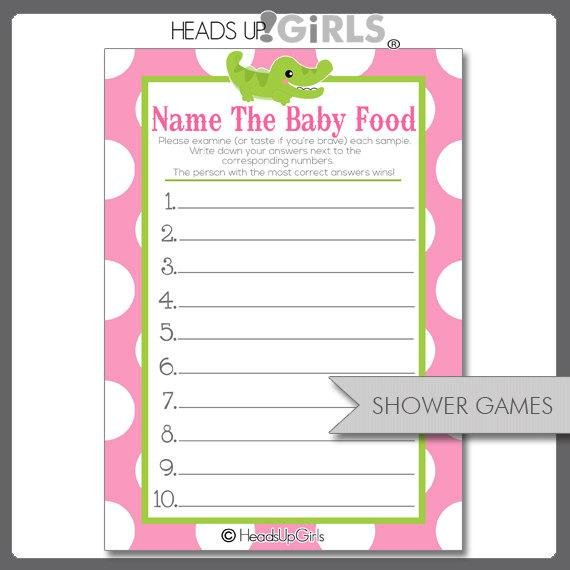 40% Off Sale Digital Printable Name The Baby Food Guess The Baby Printable