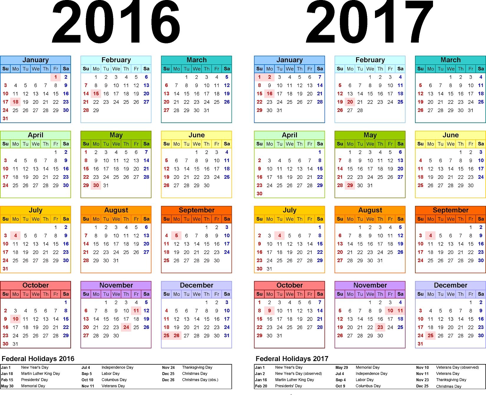 5 Year Calendar Planner | Month Calendar Printable Free Printable 5 Year Calendar