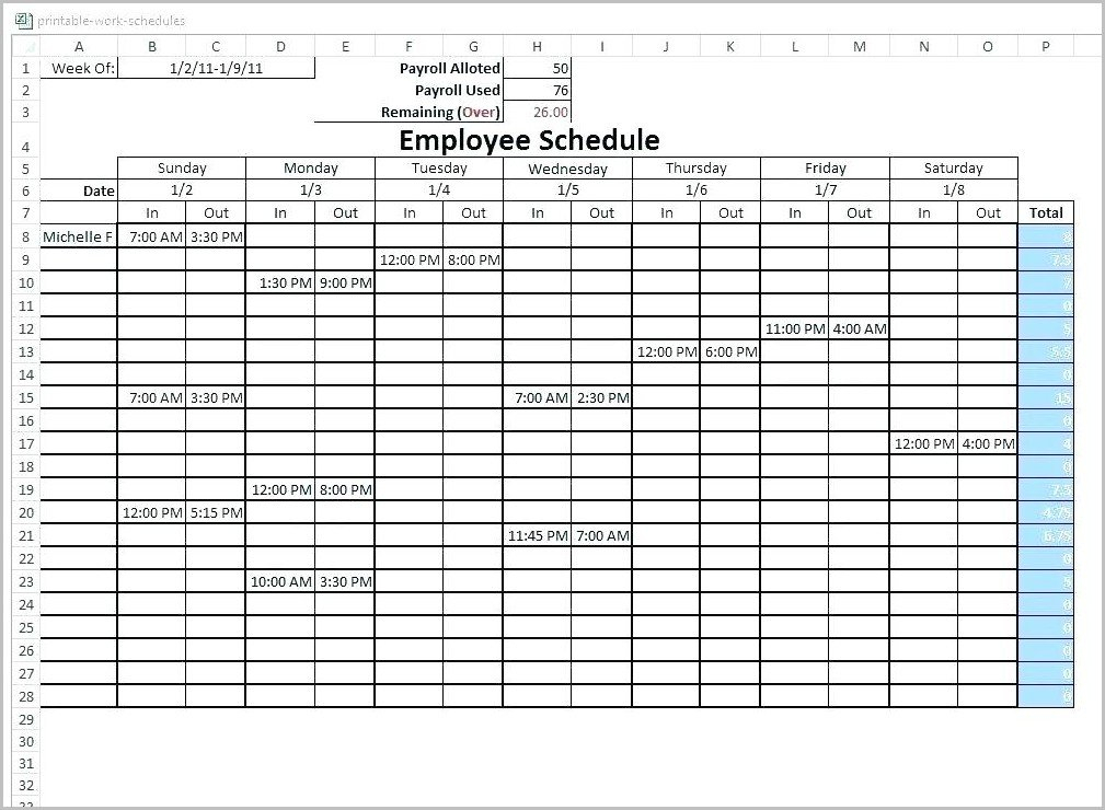 6 Week Rotating Schedule Template - Template : Resume Excel On Call Rotation Calendar