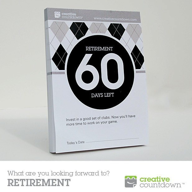 60-Day Countdown To Retirement Tear-Off Calendar Countdown Calendar To Retirement