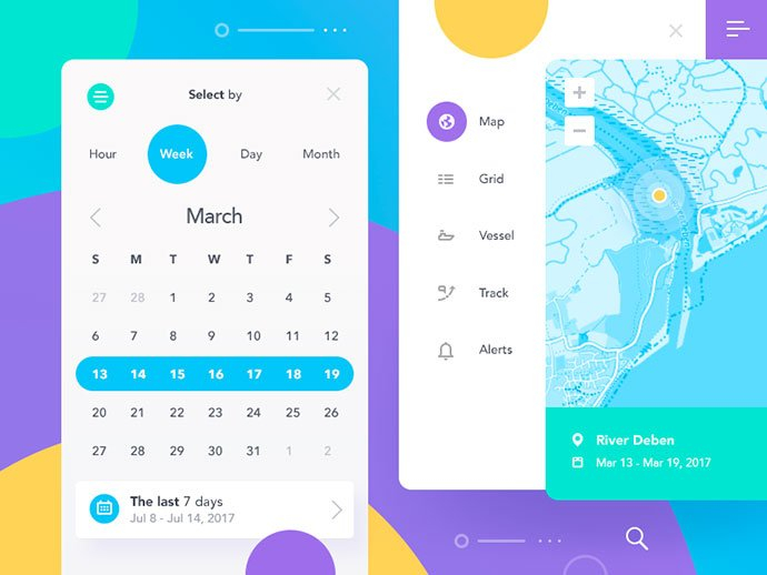 60 Superb Date Picker & Calendar Ui Designs – Bashooka Custom Date Range Calendar