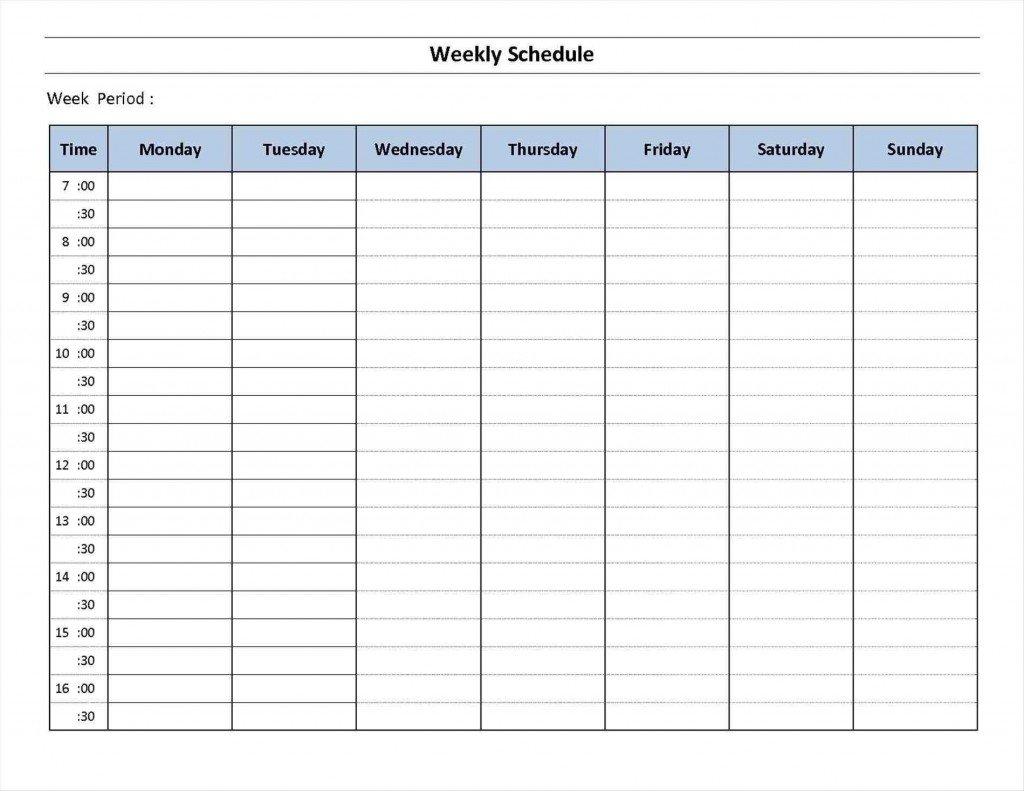 7 Day Calendar Template ~ Addictionary 7 Day Calendar Printable
