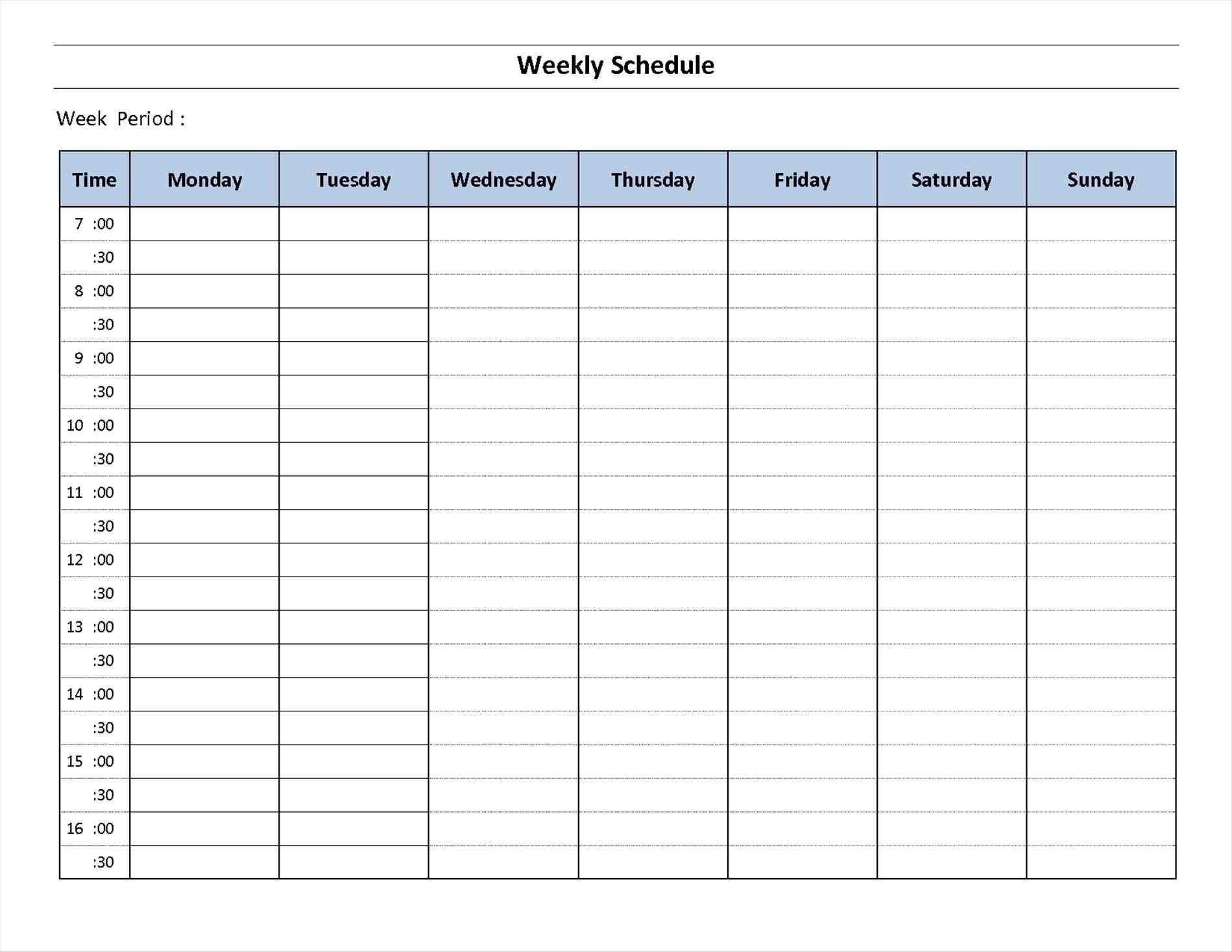 7 Day Calendar Template Fillable - Calendar Inspiration Design 7 Day Calendar Printable