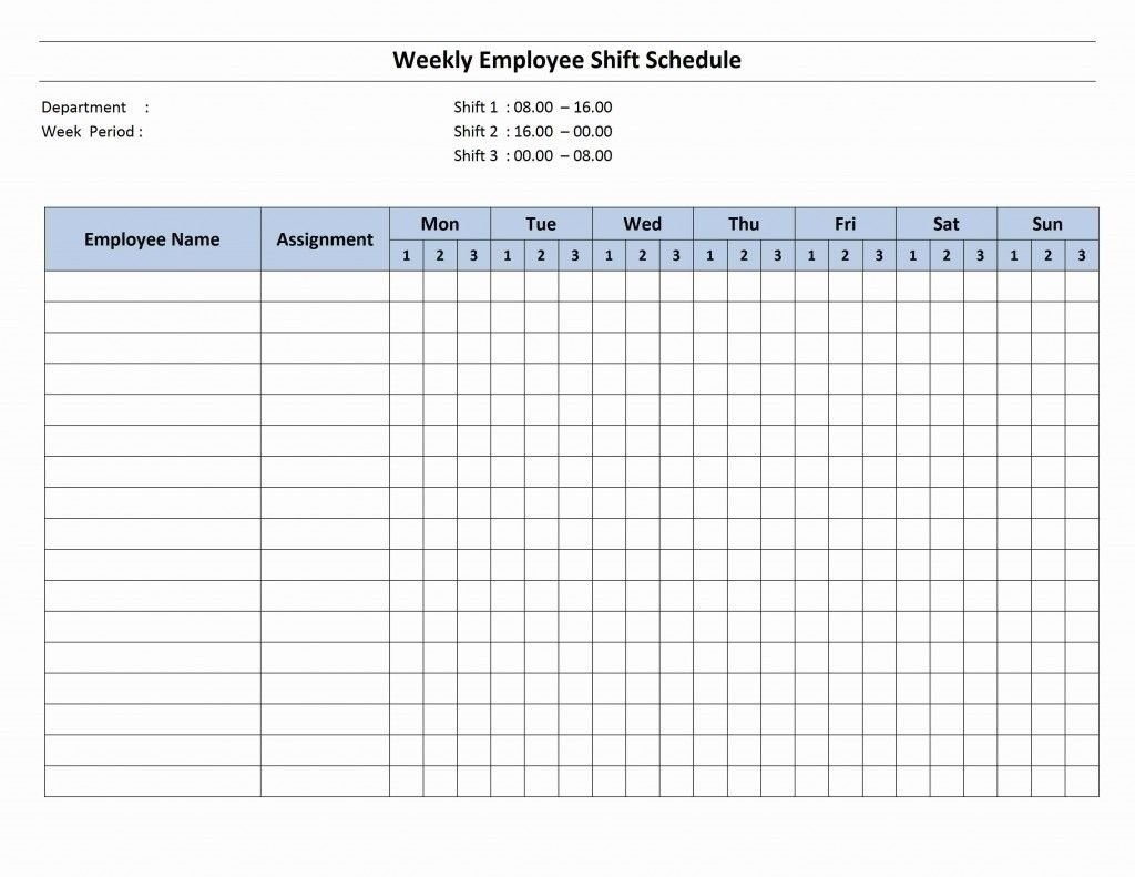 7 Day Employee Schedule Template | Blank Calendar Template 7 Day Calendar Template Printable