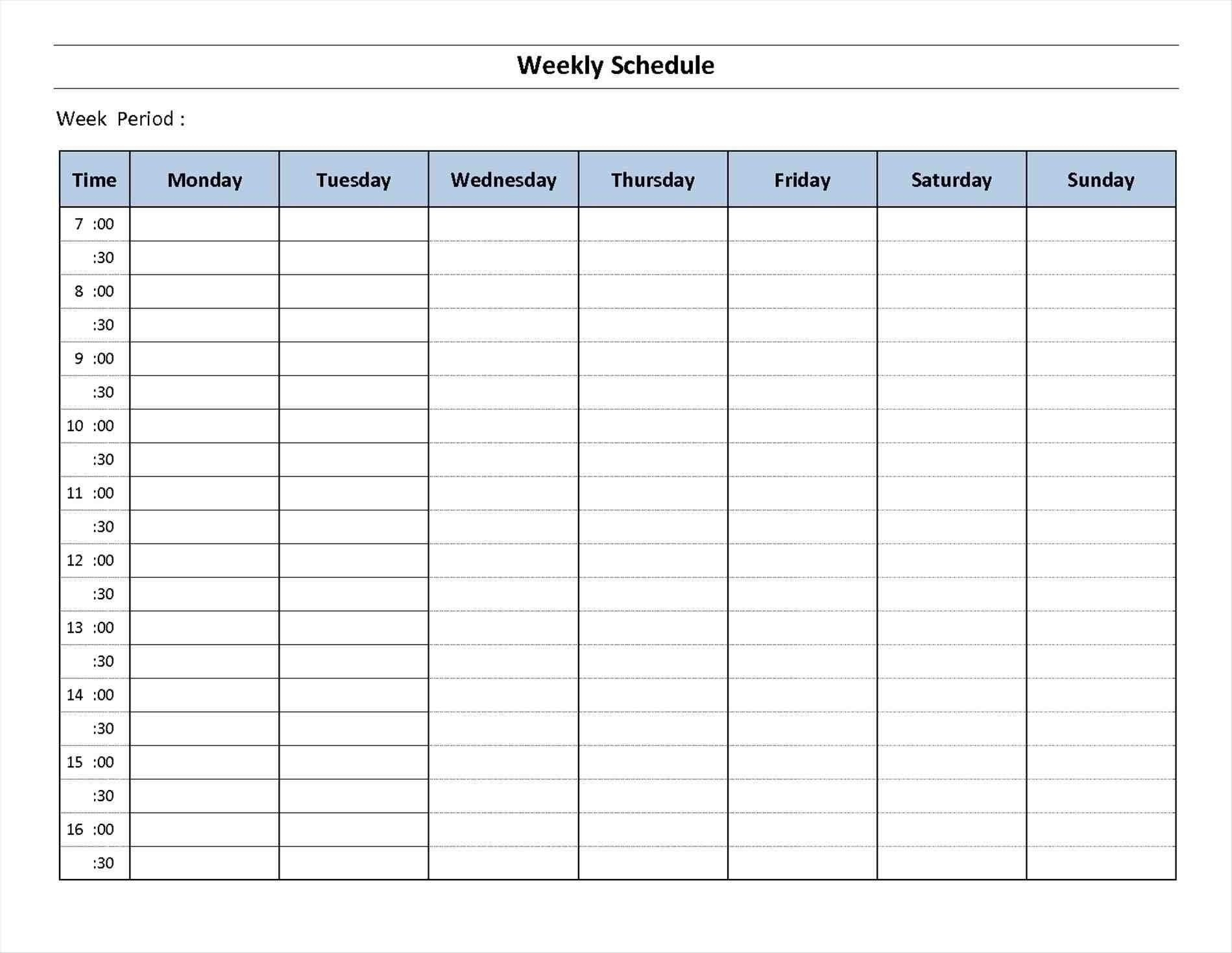 7 Day Week Calendar Printable | Template Calendar Free Copy Of Daily Hourly Calendar