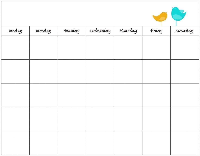 7 Week Calendar Template | Example Calendar Printable 1 Week Schedule Printable