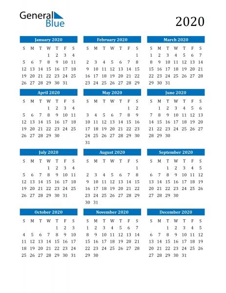 8 1/2 X 11 Printable Calendar 2020 Monday Thru Sunsday Printable 2020 Calendar 8 1/2 X 11