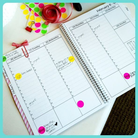 96860B826C761Ec2836073F5Fc1123E4 Color Coded Weekly Schedule