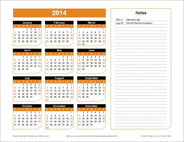 A Great Calendar Template For Yearly Planning. You Can Monthly Calendars You Can Edit