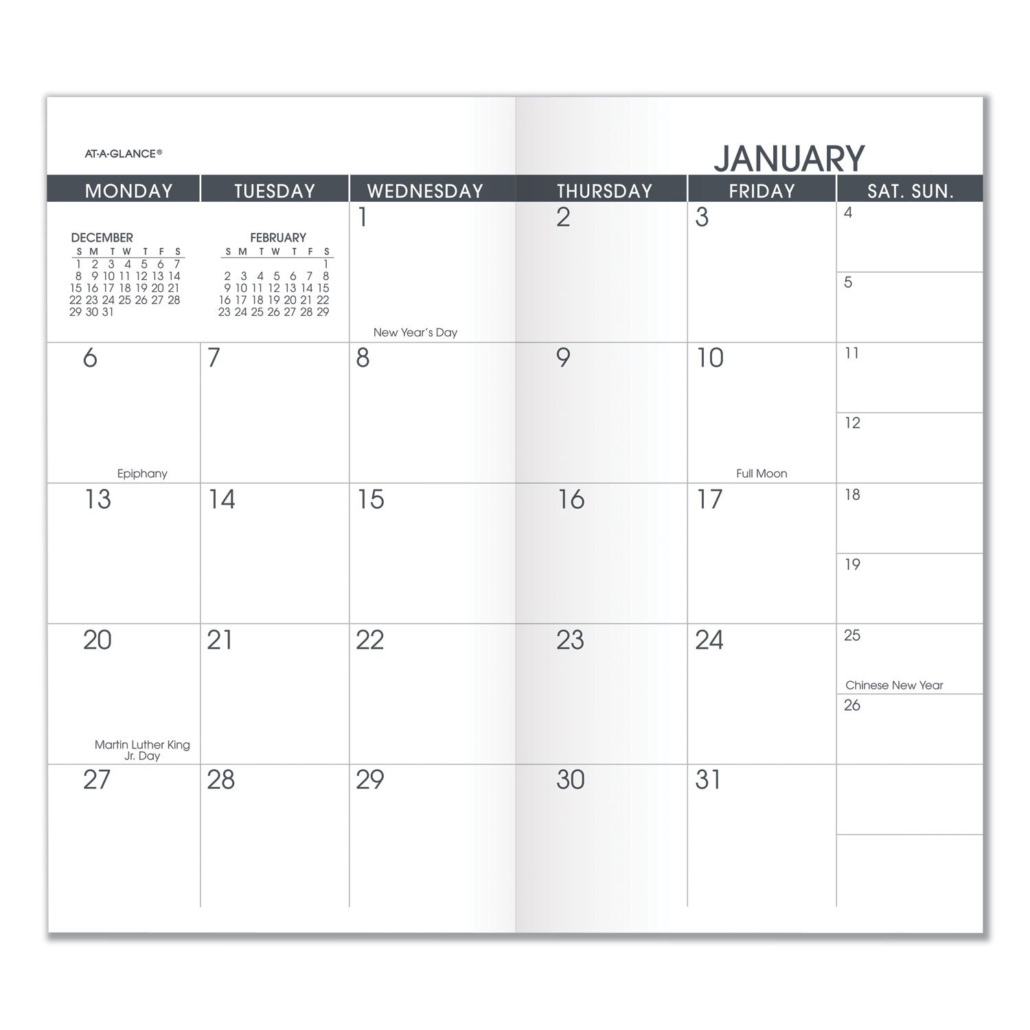 Aag7090610 At-A-Glance Pocket Size Monthly Planner Refill Free Printable Calendars 5 1/2 X 8 1/2