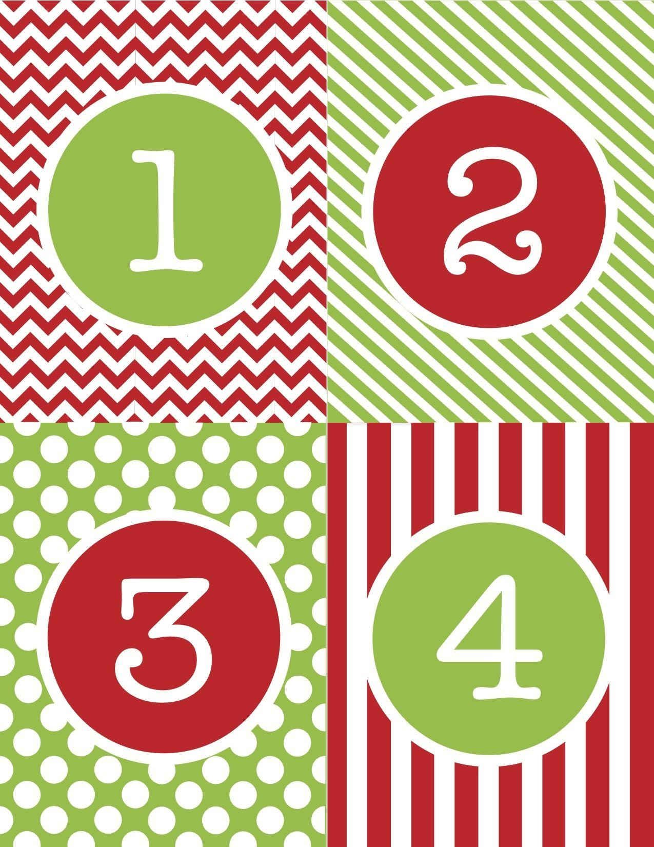 Advent Calendar Numbers Printable - Google Search Print Numbers 1 To 31