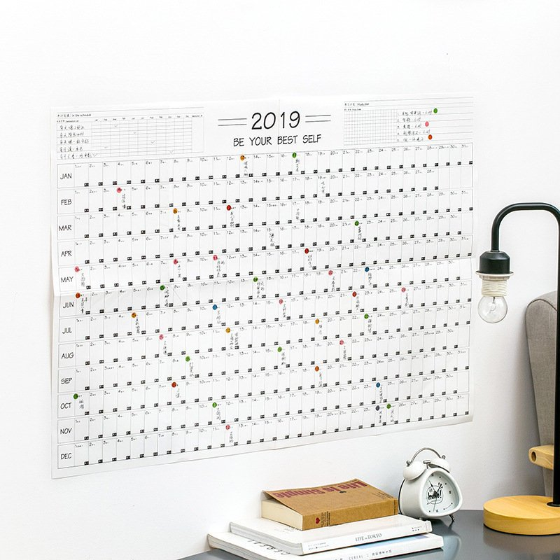 Aliexpress : Buy Coloffice 2019 One Year Plan Table 365 Day Calendar Counter